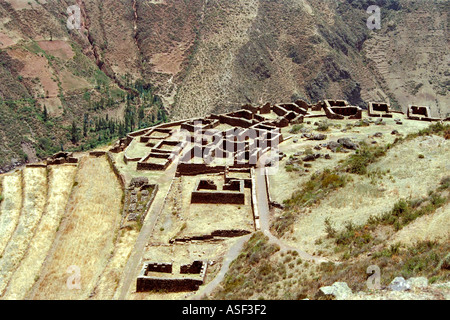 Archaeological Park, Pisac, Cusco, Peru - Stock Image