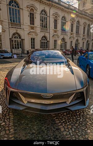 Piedmont Turin - Turin auto show 2019  - Valentino park - Valentino castle -GFG Style - Giorgetto Giugiaro - Stock Image