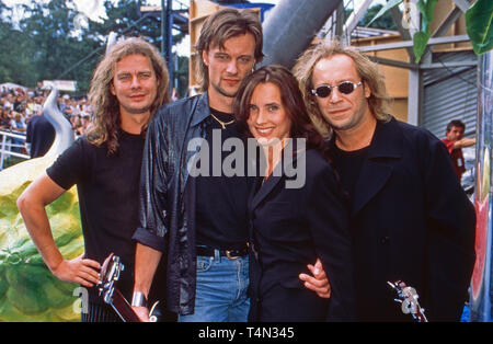 Bell, Book and Candle, deutsche Popband, in Berlin, Deutschland 1998. German pop band 'Bell, Book & Candle' at Berlin, Germany 1998. - Stock Image