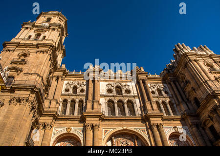 MALAGA, ANDALUSIA / SPAIN - OCTOBER 05 2017: CATHEDRAL - Stock Image