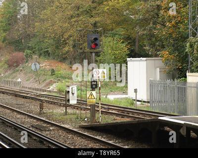 Signage at Shawford Railway Station,Hampshire, England, UK - Stock Image