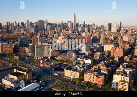 Empire State Building and Midtown Mahattan, New York, USA - Stock Image