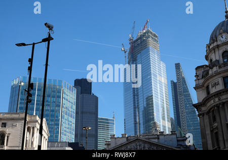 22 Bishopsgate building under construction view from Threadneedle Street in the City of London England UK Europe  KATHY DEWITT - Stock Image
