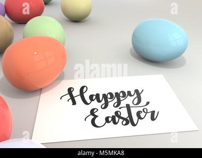 Happy Easter card - Stock Image
