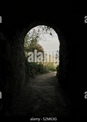 Path leading out to the countryside. - Stock Image
