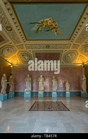 Italy Emilia Romagna Parma Museum Pole of the Pilotta -archaeological Museum - The statues of the Julius family - Claudia from Veleia forum - Stock Image