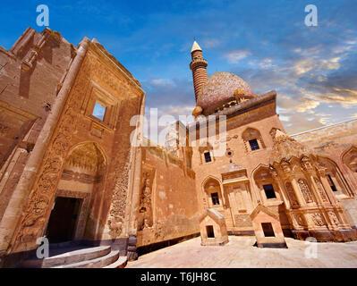 Courtyard of the 18th Century Ottoman architecture of the Ishak Pasha Palace (Turkish: İshak Paşa Sarayı) ,  Agrı province of eastern Turkey. - Stock Image