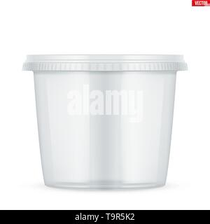 Clear Plastic container for food - Stock Image