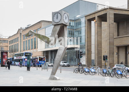 The Clyde Clock, Killermont Street, Glasgow, Scotland, UK - Stock Image