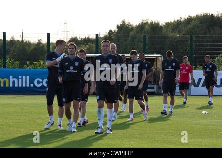 England football team training - Stock Image