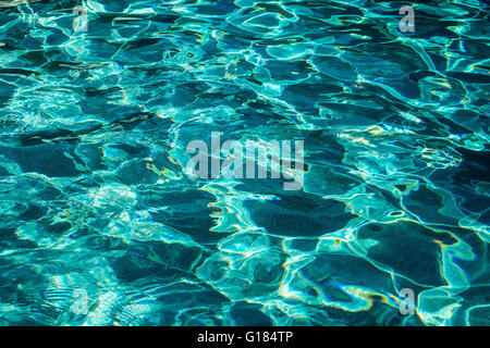 water ripples in swimming pool,naples,florida,usa - Stock Image