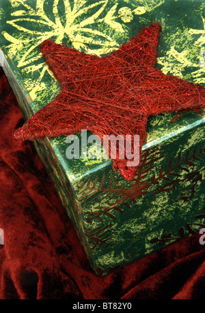 Detail of christmas decoration - Stock Image