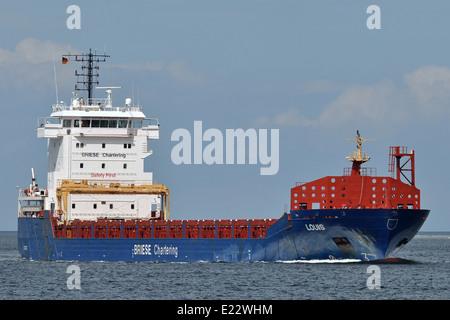 General Cargo vessel Louis inbound Kiel Fjord - Stock Image