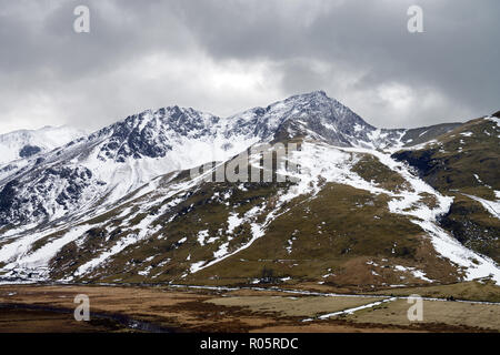 Foel-goch is a mountain in the Glyderau range in the Snowdonia National Park, North Wales. - Stock Image