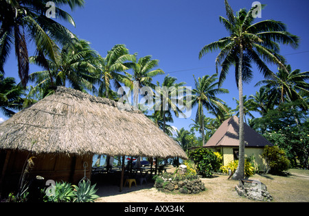 South Pacific Cook Islands Aitutaki  Holiday resort - Stock Image