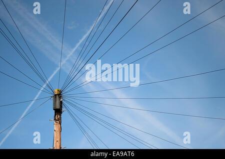 Telephone pole - Stock Image