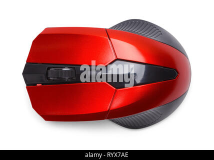Top View of Computer Mouse Isolated on White. - Stock Image