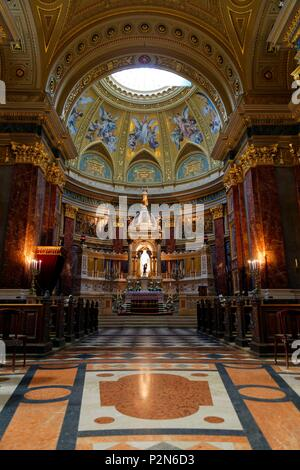 Budapest, Hungary, area classified as World Heritage, Pest, St. Stephen's Basilica (Szent Istvan-bazilika) - Stock Image