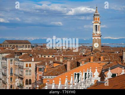 Venetian rooftops II - Stock Image