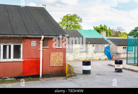 Hut 3 and Hut 6 at Bletchley Park, once the top-secret home of the World War Two Codebreakers, now a leading heritage attraction - Stock Image