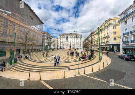 Along the streets of Lisboa - Stock Image