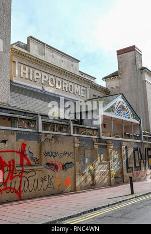 Brighton Hippodrome entertainment venue in Middle Street has been empty and out of use since 2007, when its use as a bingo hall ceased - Stock Image
