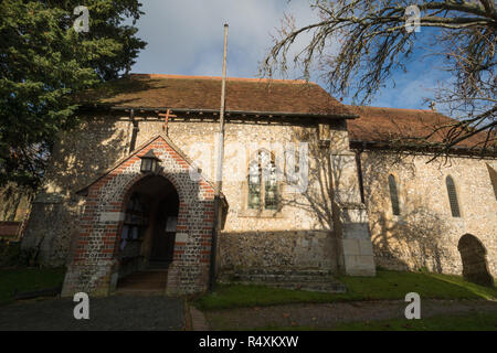St Catherine's church, a small parish church in the village of Littleton in Hampshire, UK - Stock Image