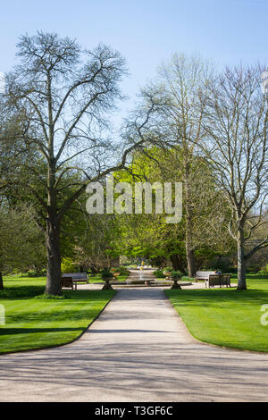 Oxford Botanic Gardens in early Spring - Stock Image