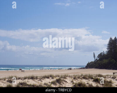Beach Landscape On The Gold Coast - Stock Image