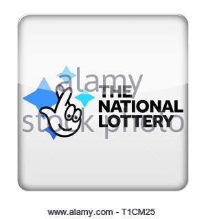 National Lottery logo - Stock Image