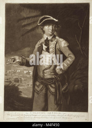 Colonel Arnold - who commanded the provincial troops sent against Quebec, through the wilderness of Canada, and - Stock Image