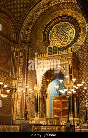 Czech Republic, Prague. Bimah details in the Spanish Synagogue. Credit as: Wendy Kaveney / Jaynes Gallery / DanitaDelimont.com - Stock Image