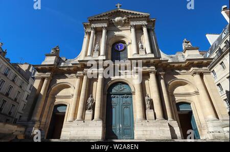 Church of Saint-Roch - a late Baroque church in Paris, dedicated to Saint Roch. Paris. France. - Stock Image