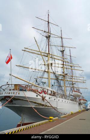 Dar Pomorza, Maritime Museum, Molo Poludniowe, South Pier, Gdynia, Poland - Stock Image