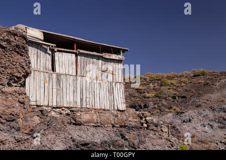 Old wooden shed at Puerto de Aldea, Gran Canaria, Canary Islands - Stock Image