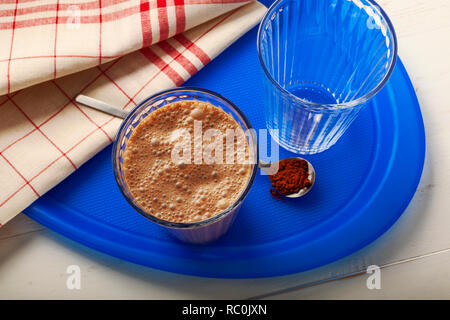 Mocha protein shake - Stock Image