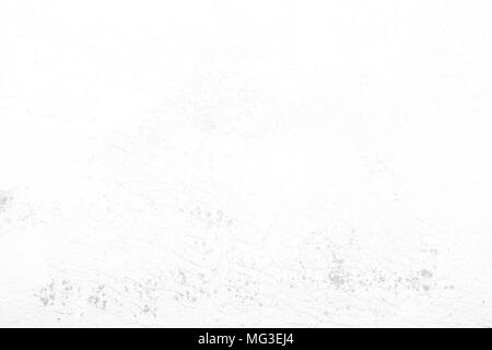 Cracked White Concrete Wall Background. - Stock Image