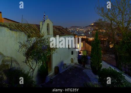 Anaftioka area at Athens - Stock Image