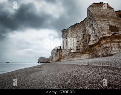 Etretat cliff in Normandy, France - Stock Image