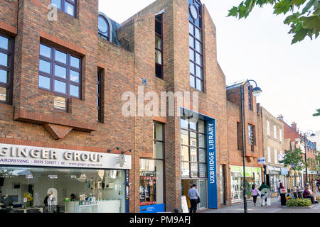 Uxbridge Library, High Street, Uxbridge, London Borough of Hillington, Greater London, England, United Kingdom - Stock Image