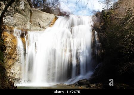 Scenic View Of Waterfall - Stock Image