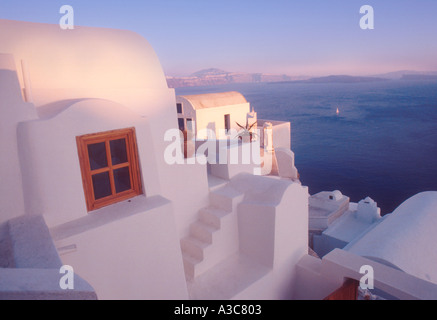 A view in Oia Santorini - Stock Image
