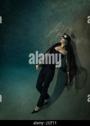 Underwater fashion - Stock Image