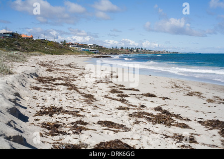 Marmion beach looking south to Watermans, northern coastal suburbs of Perth. Western Australia. - Stock Image