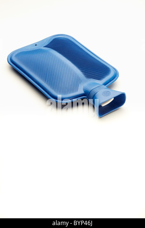 Blue Hot Water Bottle - Stock Image