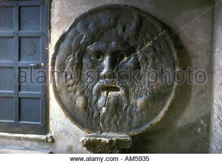 Italy Lazio Rome Santa Maria in Cosmedin Bocca della Verita - Stock Image