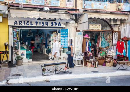 Street, Chania, Crete, Greece, Europe - Stock Image