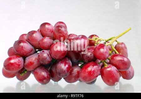 Bunch of Red Seedless Grapes - Stock Image
