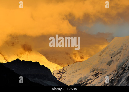 Imja Tse mountain landscape in Nepal - Stock Image