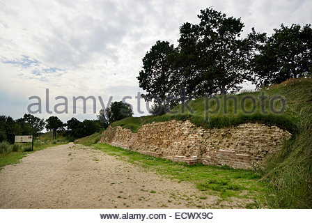 Danevirke, an earthwork fortification 19 mi (30 km) long built in phases between AD 737 and early 13th century by - Stock Image